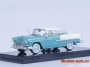 Chevrolet Bel Air Hard Top 1955г. - India Ivory / Turquoise 1/43