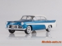 Desoto Firedome 4-Door Seville, metallic-blue/white, 1956 1/18