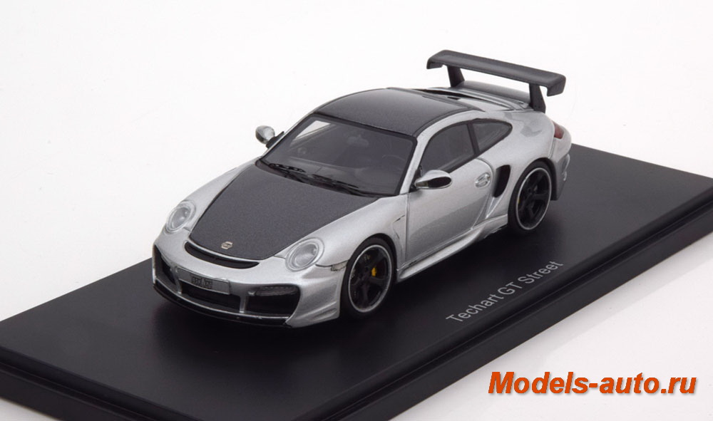 Porsche Techart GT Street, silver/metallic-dark grey 2009