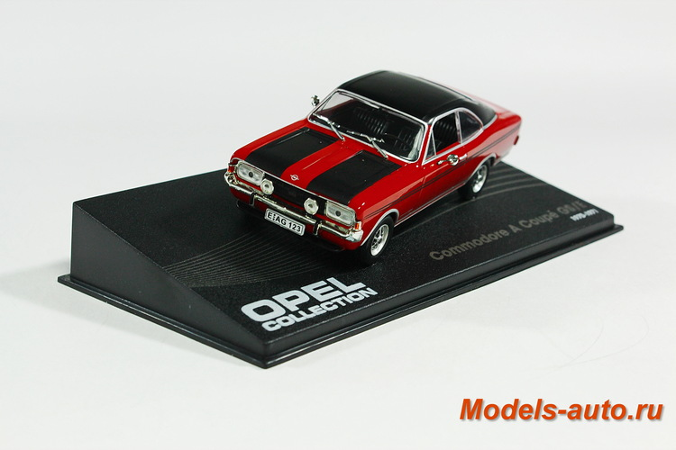 OPEL COMMODORE A COUPE GS/E 1970-1971 Red/Black