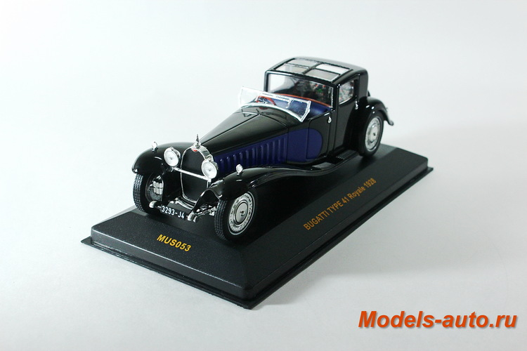 BUGATTI TYPE 41 Royale 1928 Black/Dark Blue